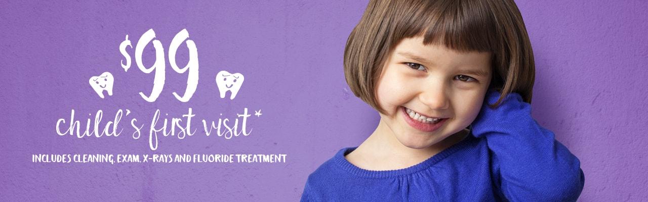 Pediatric Dentist Offer 99 Child First Visit